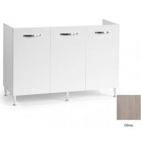 Mobile Sottolavello Bianco Olmo per Lavello  Inox 120x50x85h