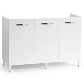 Mobile Sottolavello Bianco per Lavello Inox  cm120x50x85h