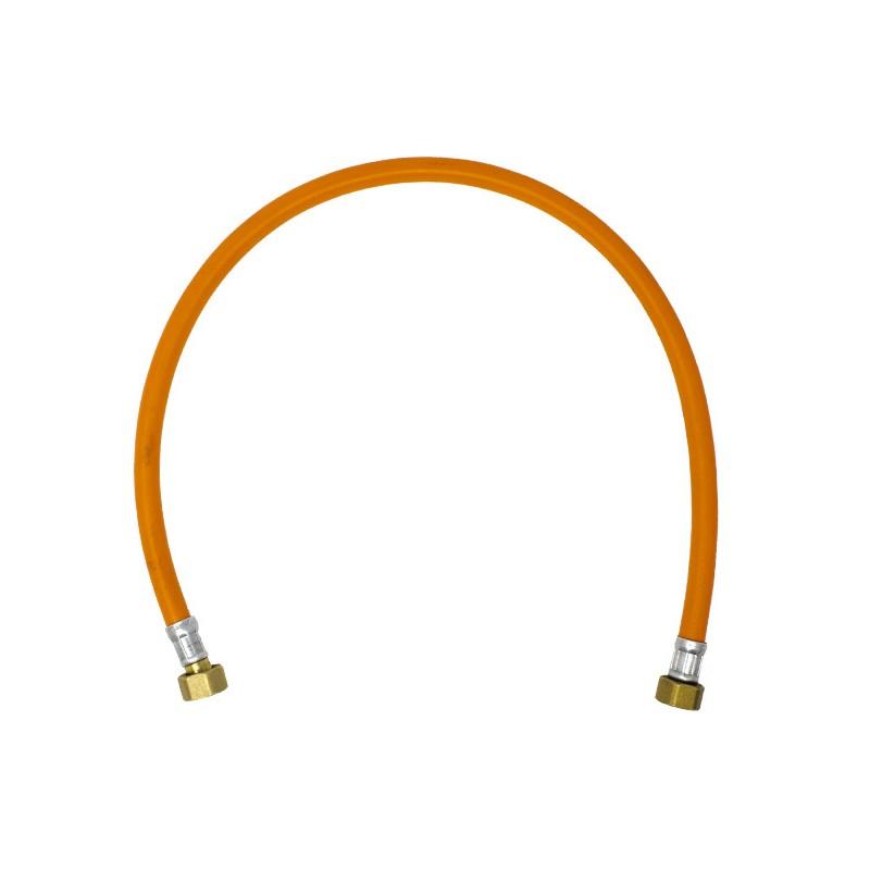 "Tubo Flessibile Arancione per Centralina Gas Femmina/Femmina 1/2"" Lunghezza 80cm Idroblok"