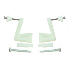 Fissaggio Laterale per Sanitari Bianco 26x64 mm