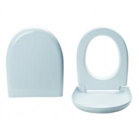 Coprivaso Termoindurente Bianco Frizionato   Modello Pratica Azzurra