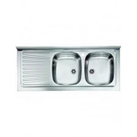 Lavello Acciaio Inox da Appoggio cm120x50    ART.031037DNLXX