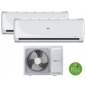Climatizzatore Dualsplit Inverter Hec Serie  New Tide R32 9000 + 12000 BTU A++/A+