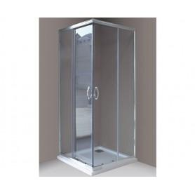 Box Doccia Angolare Siro in Cristallo 4mm    Trasparente cm68/78 x88/98 x190H