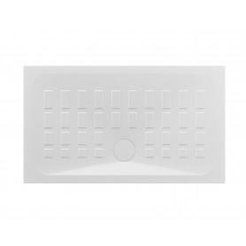 Piatto Doccia in Porcellana Rettangolare     Serie Cube cm 80x100 Azzurra